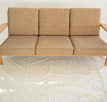 "Hans Wegner ""Plank"" 3 Seater sofa."
