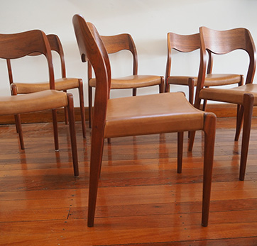 Set of 6 Teak chairs # 71