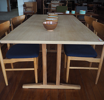 Oak dining table by Børge Mogensen