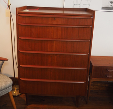 Teak Chest of Drawers  $ 1050