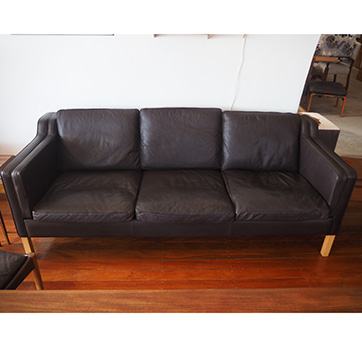 Danish – leather 3 Seater sofa SOLD