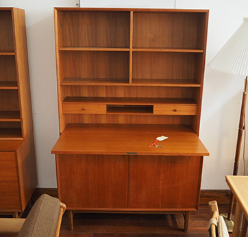 Danish cupboard wth book shelves/desk $ 790