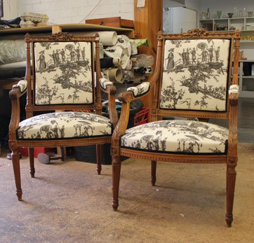 Traditionally restored French chair